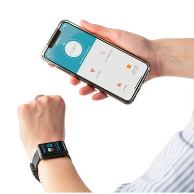 Picture of ABS smart watch with silicone wrist band