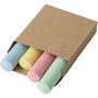 Cardboard box with chalk