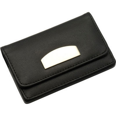 Picture of Bonded leather business card holder