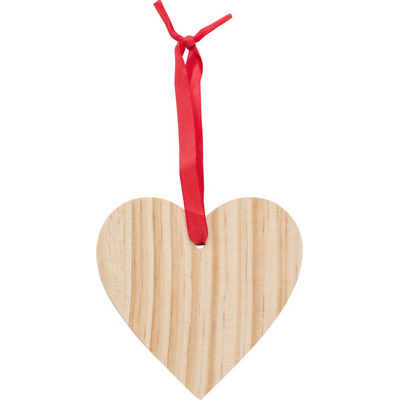 Picture of Wooden Christmas ornament Heart