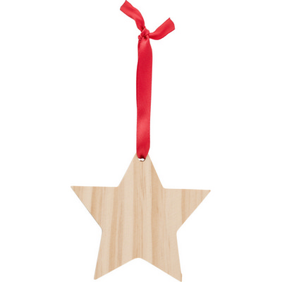 Picture of Wooden Christmas ornament Star