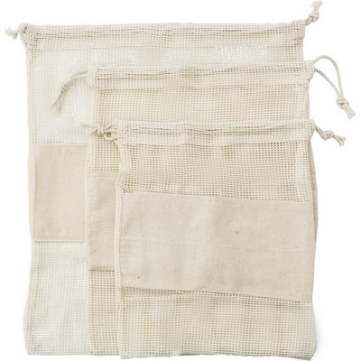 Picture of Set of three reusasable cotton mesh prod