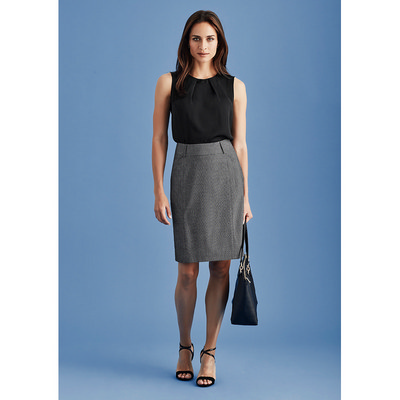 Picture of Womens Panelled Skirt with Rear Split