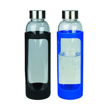 Picture of Sleeve Glass Drink Bottle with Stainless