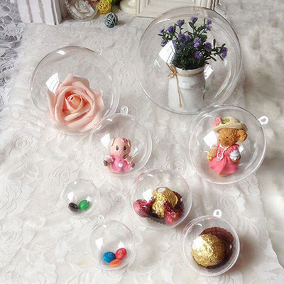 Picture of Ball Shaped Clear Plastic Ornament