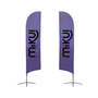 Medium(70.4300cm) Angled Feather Banners