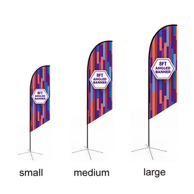 Picture of Large(80.5400cm) Angled Feather Banners