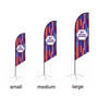 Large(80.5400cm) Angled Feather Banners