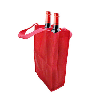 Picture of Non Woven 2 Bottle Bag with Rope Handle