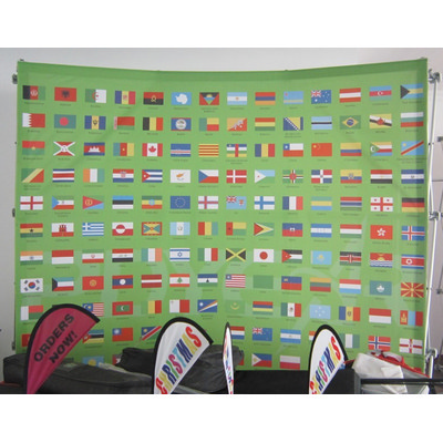 Picture of Media Wall 3m x 2.25m - Curved - No SidesMedia Wall