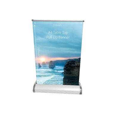 Picture of Table Top Pull Up Banner A4
