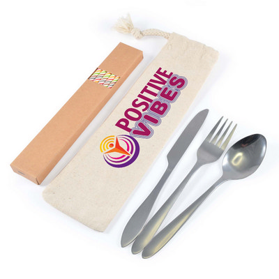 Picture of Banquet Cutlery Set & Straws In Calico P