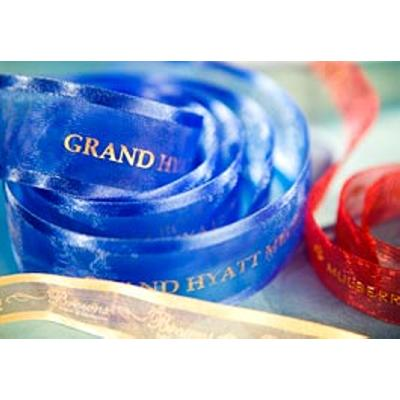 Picture of Organza Printed Ribbon 38mm Woven Edge