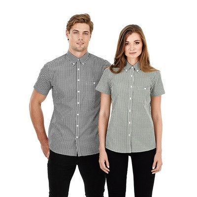 Picture of Mens Short Sleeve Gingham Check