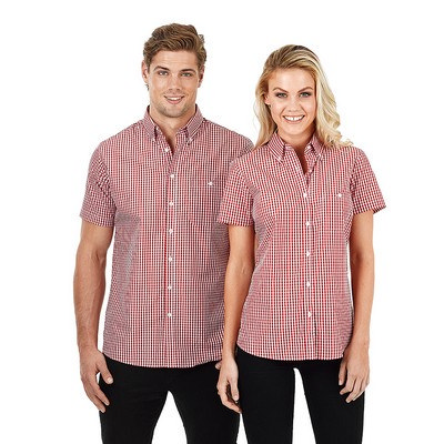 Picture of Ladies Short Sleeve Gingham Check
