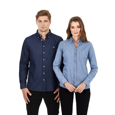 Picture of Mens Long Sleeve Denim Shirt