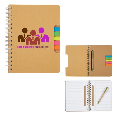 Picture of Eco Spiral Notebook With Pen And Sticky