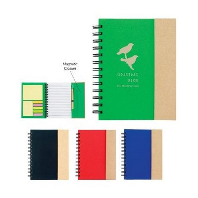 Picture of Spiral Notebook With Sticky Notes And Fl