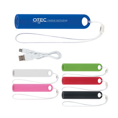 Picture of Round Portable Charger with Wrist Strap