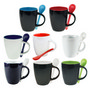 Coffee Mug With Spoon In Conveniant Carr