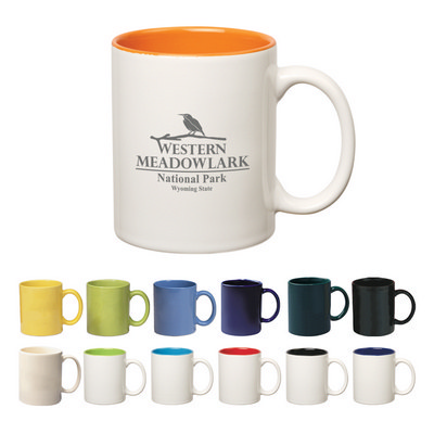 Picture of 325ml Coloured Stoneware Mug With C-Hand