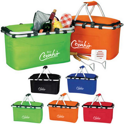 Picture of Foldable Insulated Picnic Basket