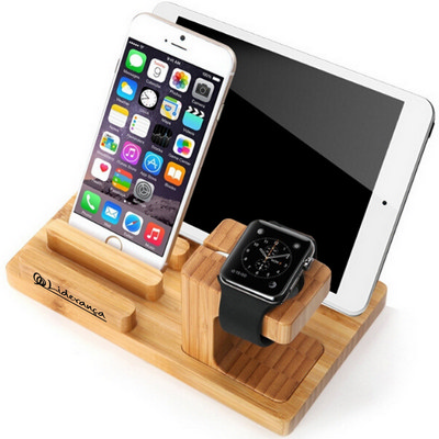 Picture of Natural Bamboo Wood Charger Stand Holder