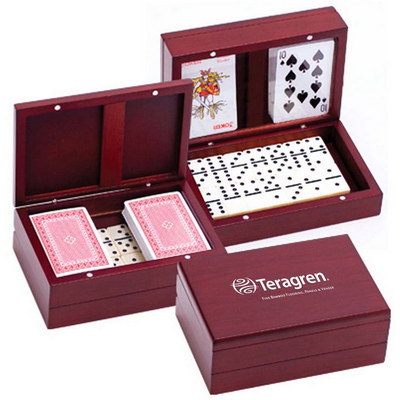 Picture of Wooden Domino Set with Two Decks Of Play