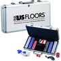 Deluxe Poker Set with Aluminum Carrying