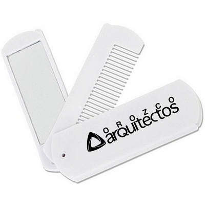 Picture of Folding Swivel Comb With Mirror