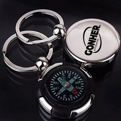 Picture of Mini Portable Compass Keychain