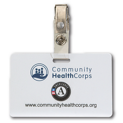 Picture of Horizontal Plastic ID Card w Badge Clip