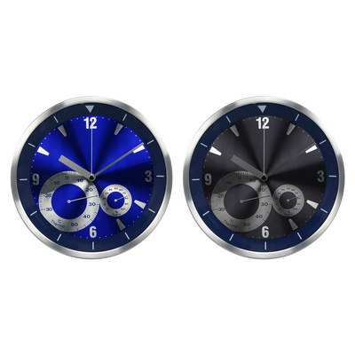 Picture of ALUMINIUM WEATHER STATION WALL CLOCK