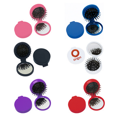 Picture of Brush With Mirror Compact
