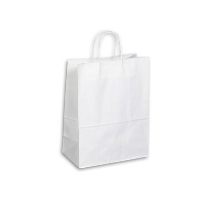 Picture of Kraft Paper Bag - White Large Includes T
