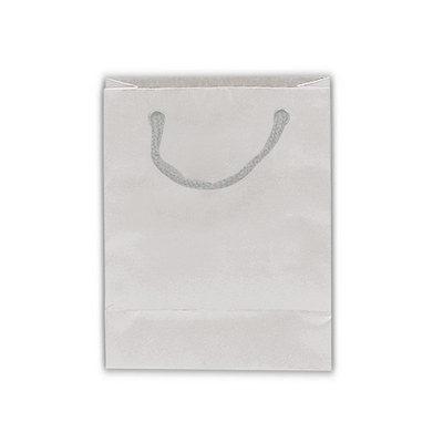 Picture of Matt Laminated Bag Small With Rope HandleBags - Paper