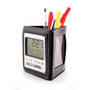 Multifunction Clock With Pen Holder