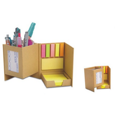 Picture of Recycle Paper With Post It Notes Pen Hol