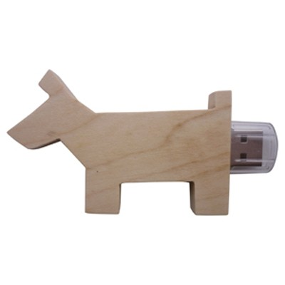 Picture of Wooden Dog Drive 4GB