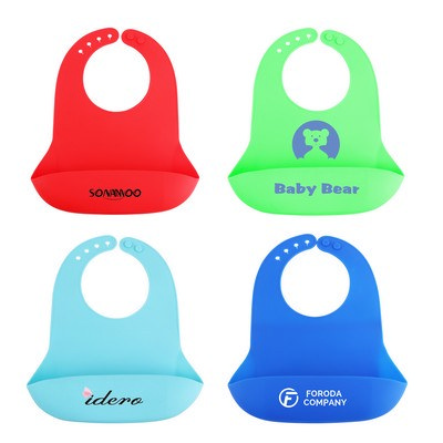 Picture of Silicone Bib with Snap Closure