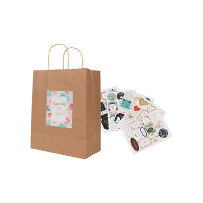 Picture of Twisted Handle Kraft Paper Bag(220x270x1