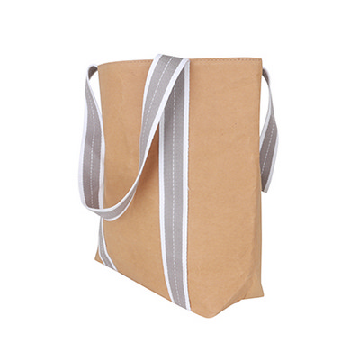 Picture of Small Washable Kraft Paper Bag with Cott
