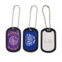 Dog Tag with Rubber Silencer