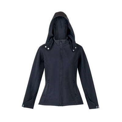 Picture of Ladies Soft Shell HOODED Jacket - TEMPES