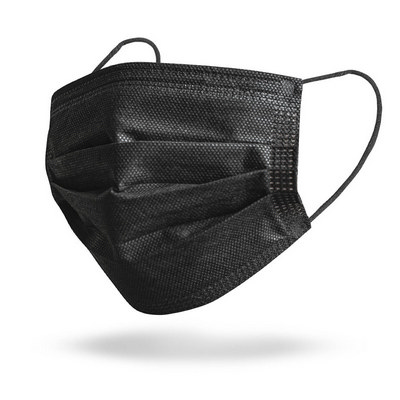 Picture of Black 3-Ply Disposable Face Masks