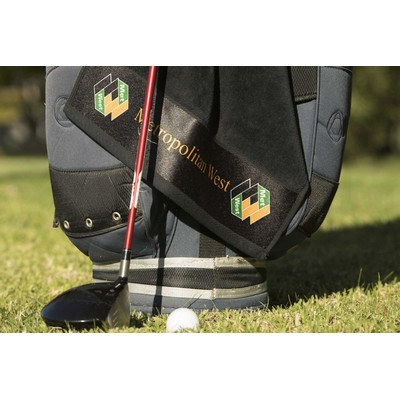 Picture of Elite Small Golf towel with hook and gro