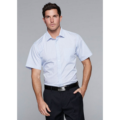 Picture of Mens Bayview Wide Stripe Short Sleeve Sh
