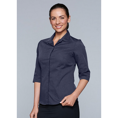 Picture of Ladies Grange MiTong Check 3/4 Sleeve Sh