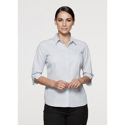 Picture of Ladies Bayview Wide Stripe 3/4 Sleeve Sh