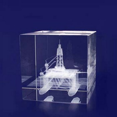 Picture of 3D Crystal Award - Cube